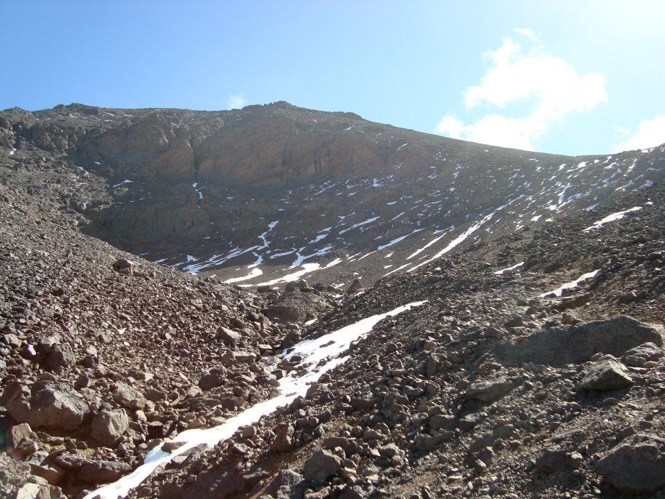 montée et arête sommital du Toubkal