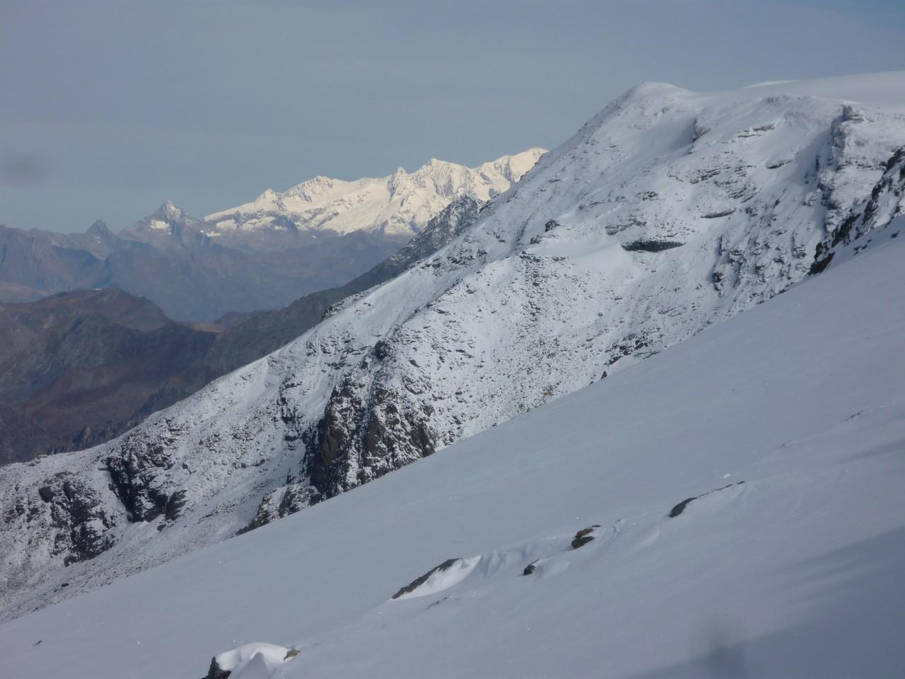 arête W du dôme des Nants et Mt Blanc