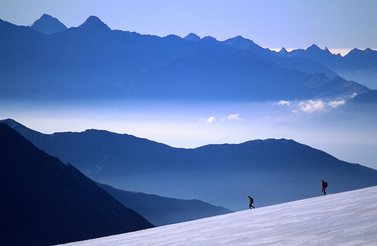 Cordee au Col du Geant