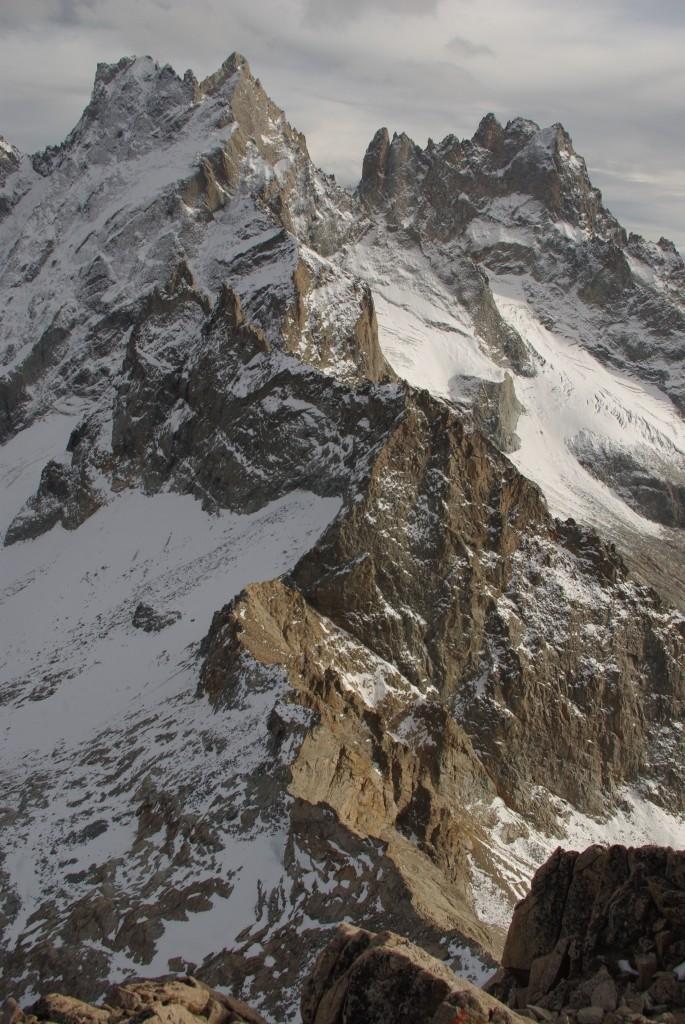 L'arête sud, le Pic S des Cavales, Roche Méane, la Grande Ruine et le Pic Bourcet