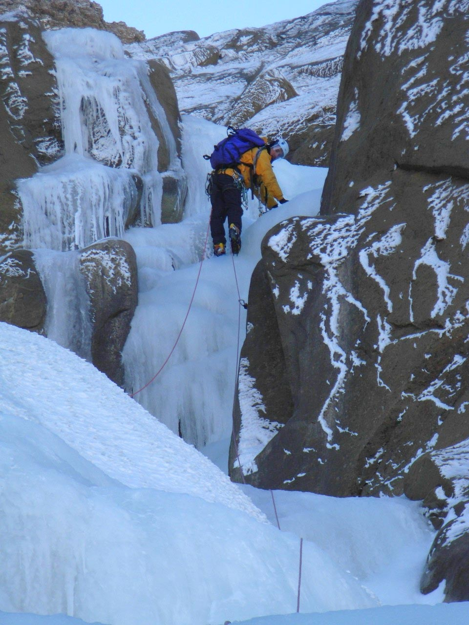 Ice dans le ruisseling