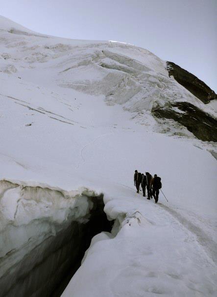 passage de pont de neige