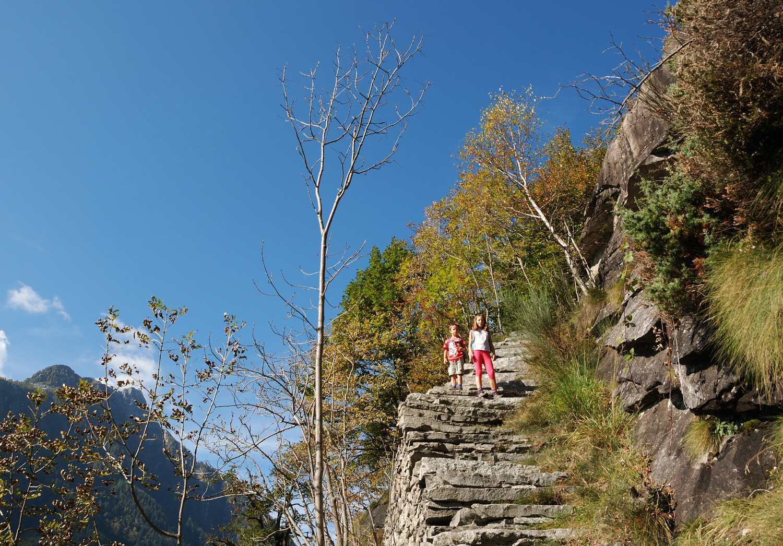 Montée vers l'Alpe Larescia
