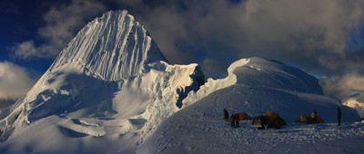 Camp d'altitude de l'Alpamayo