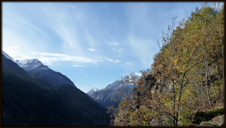 Schalb - Törben : Entre Kalpetran et Embd, la vallée s'ouvre....