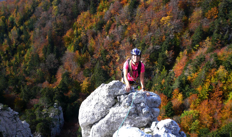 Vers le milieu de l'arête du Brüggligrat (Jura)