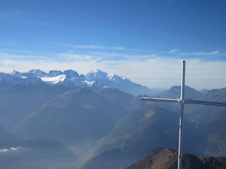 Du Grand-Chavalard, Le Mont-Blanc