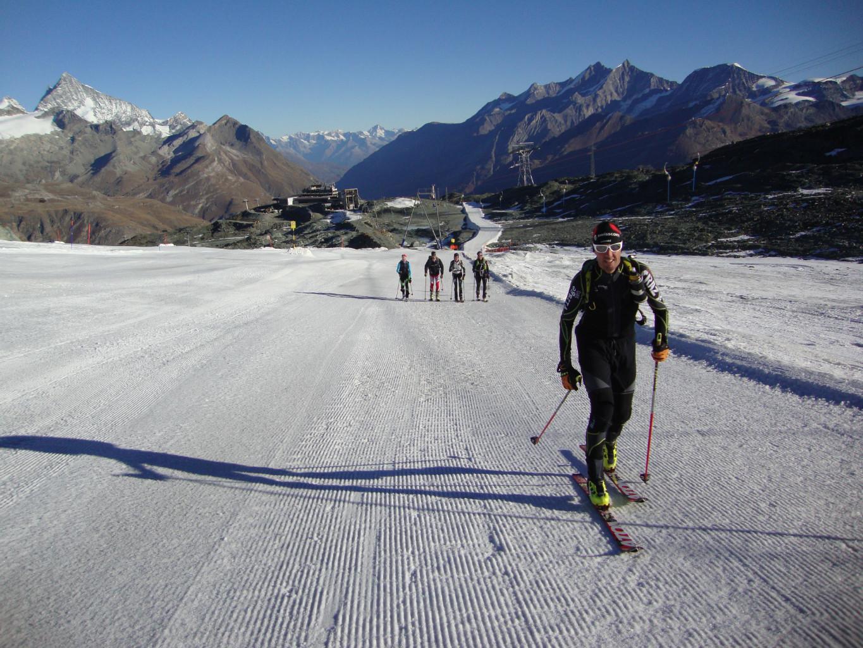 Breithorn, 25.10.2012 Départ skis au pieds de Trockner Steg
