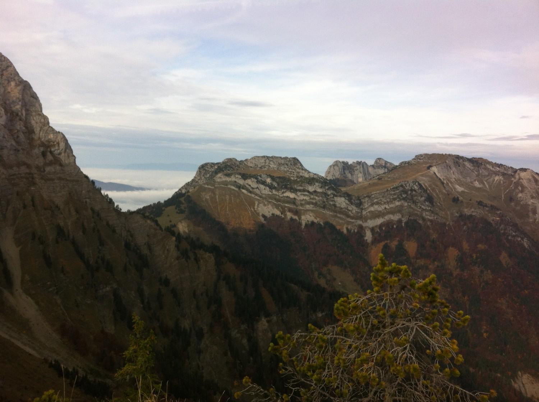 Pointe de Talamarche vue depuis le Col des frêtes du Rosairy