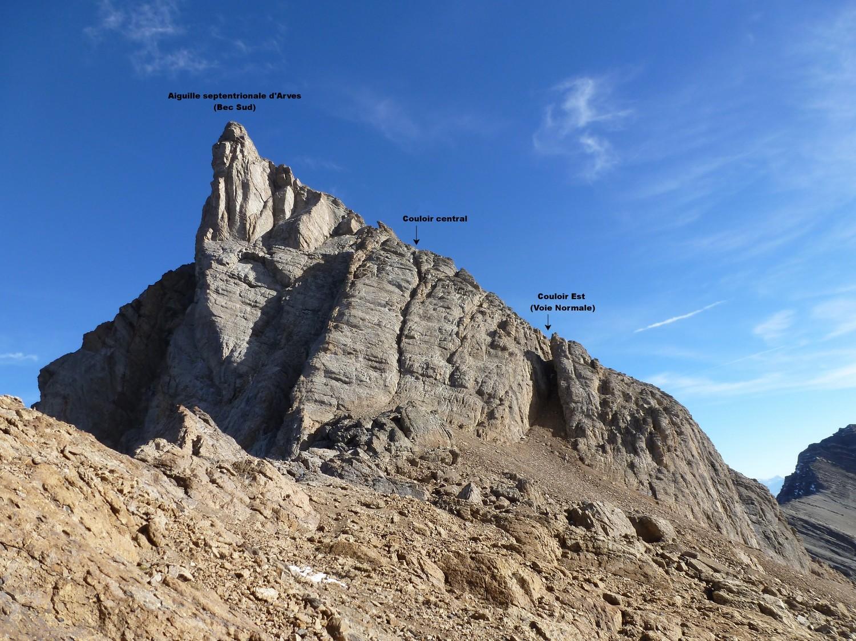 Tête de Chat (Bec Sud) depuis le col des Aiguilles d'Arves