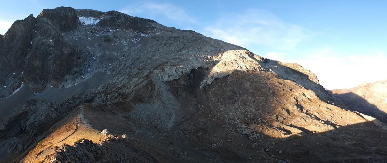 Col du Vallon - Tête de la Muraillette et feu le glacier du Peyron