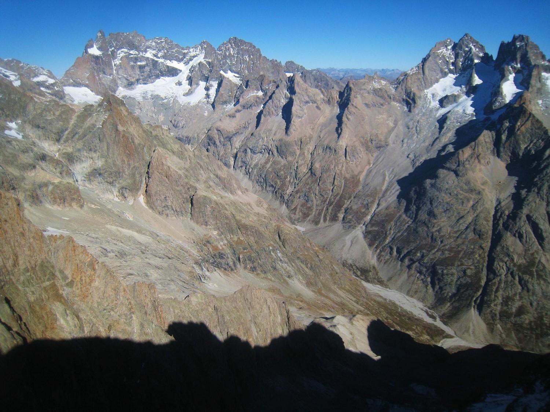 Du sommet, vue sur la face Sud de la Meije