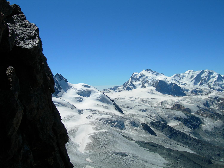 vue sur Mont rose  et Lyskamm