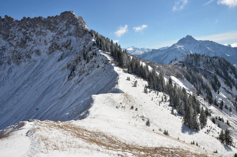 Un peu au dessus du Col de Verne: Pte d'Arvouin, Mont-Blanc, Mont de Grande