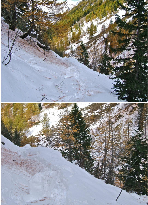 Le passage avalancheux.