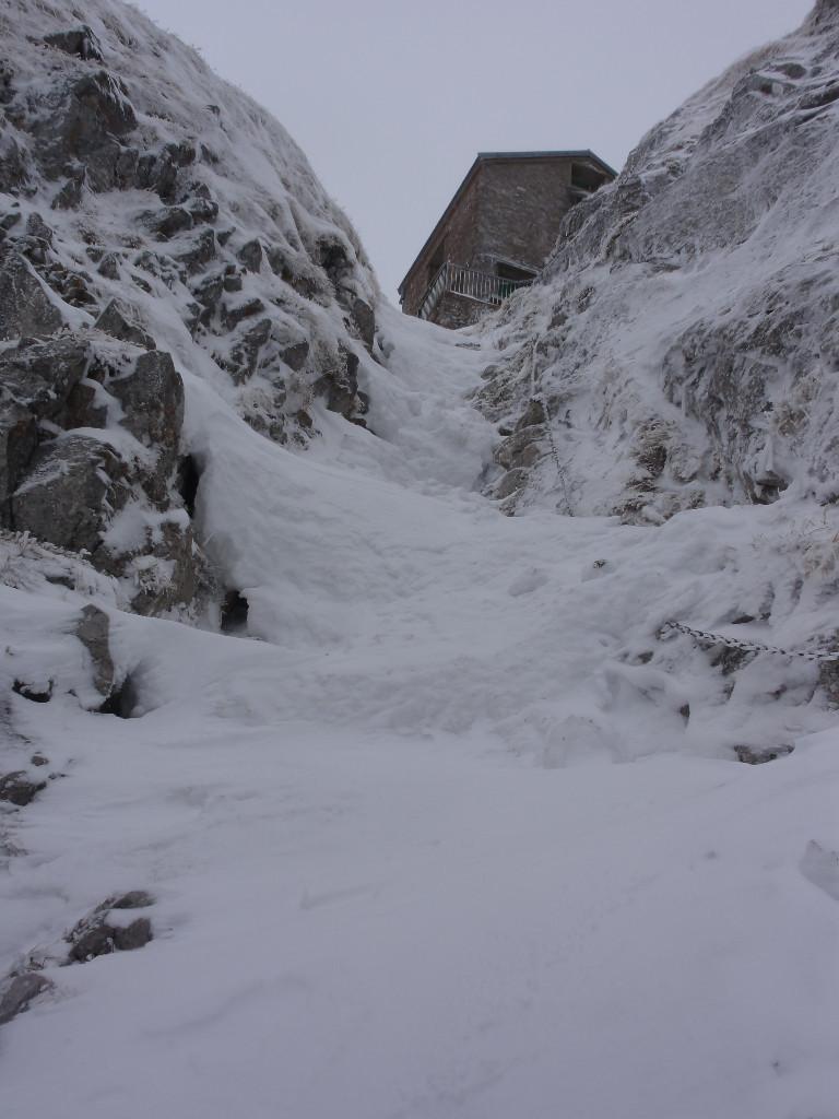 Les derniers mètres sous le refuge