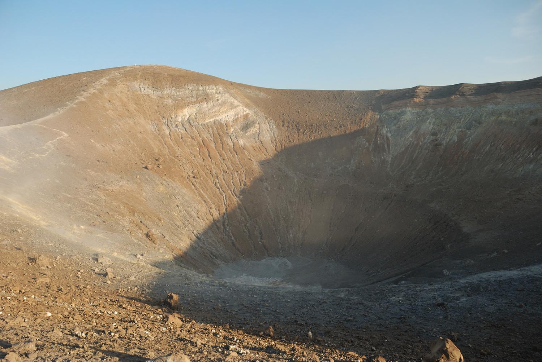 Arrivés au bord du cratère