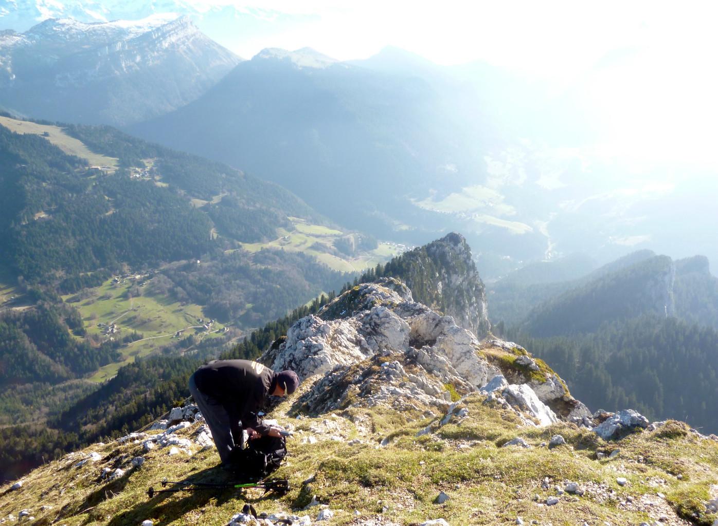 Grand Som: Arête S (Suiffière) depuis le sommet.