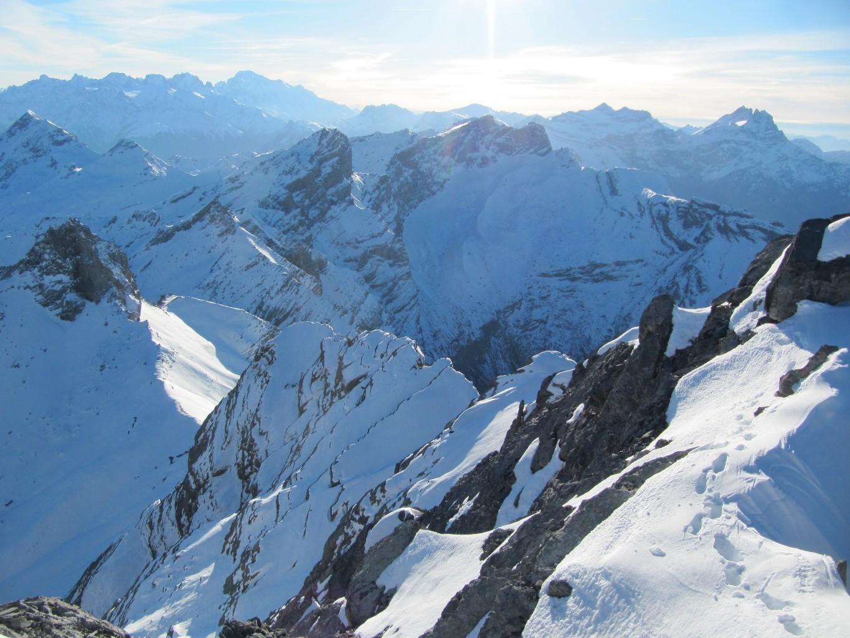 l'arête, vue depuis le sommet