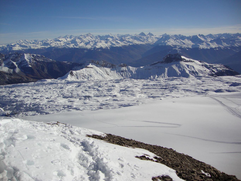 19.11.2012, Oldenhorn, vue du sommet sur le glacier