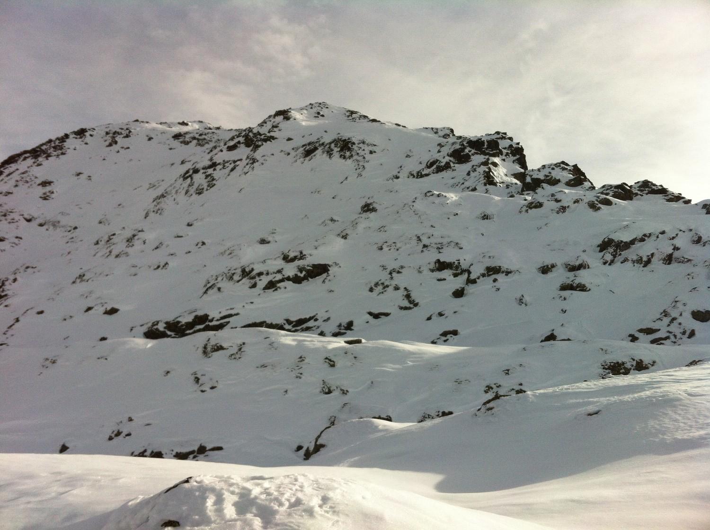 Arête NW, Petit Mont Mort, version mois de novembre