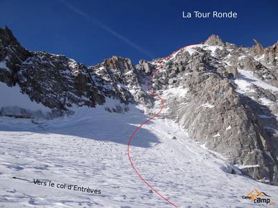 La voie normale de la Tour Ronde