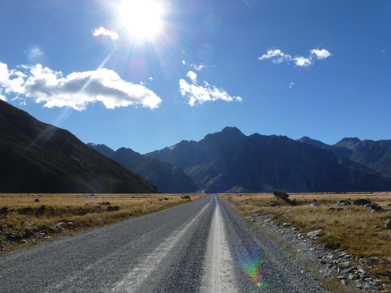 Tasman Valley Road menant au point de départ