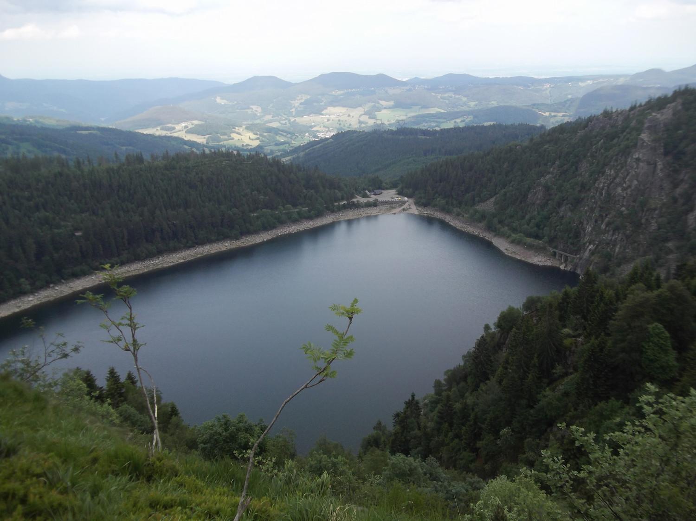 Lac Blanc depuis la variante du GR5