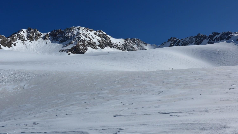 Gébroulaz/Après le col de Thorens, Le glacier de Chavière