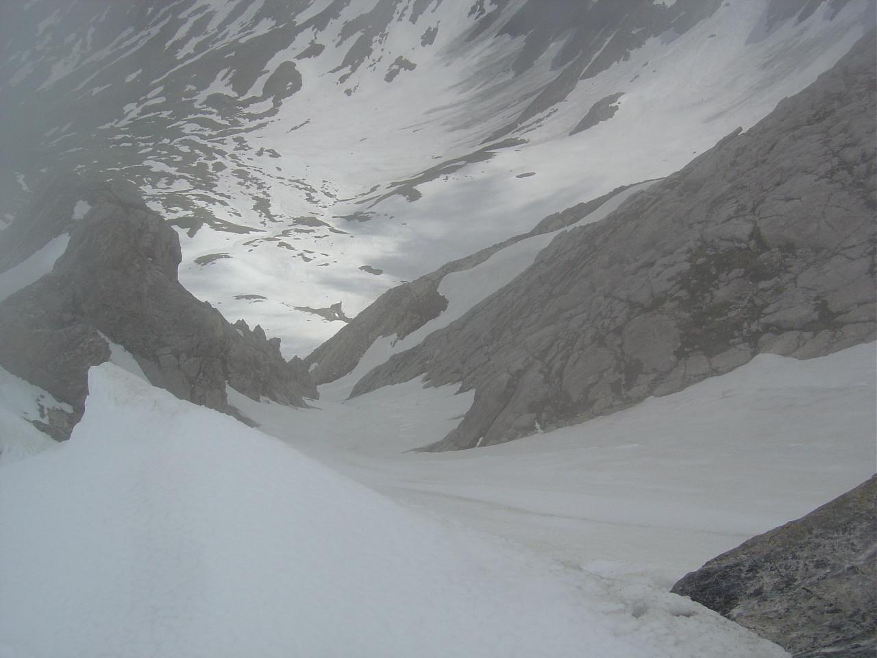 Vue du couloir S du sommet
