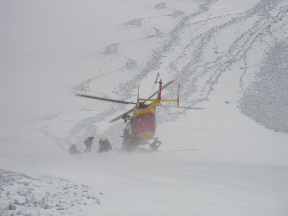 Le PGHM, derrière mes traces de skis
