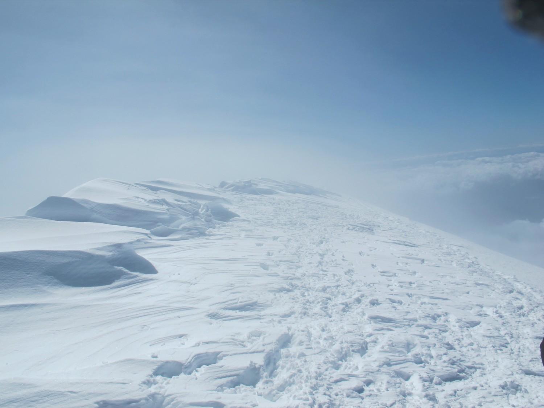 sommet du Mont-Blanc sou jet-stream