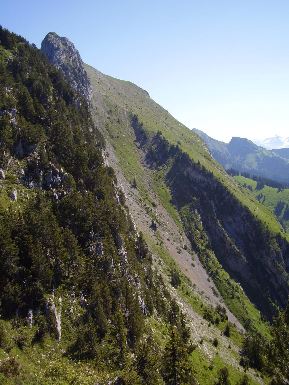 Aperçu de la descente : le couloir du Ferraillon