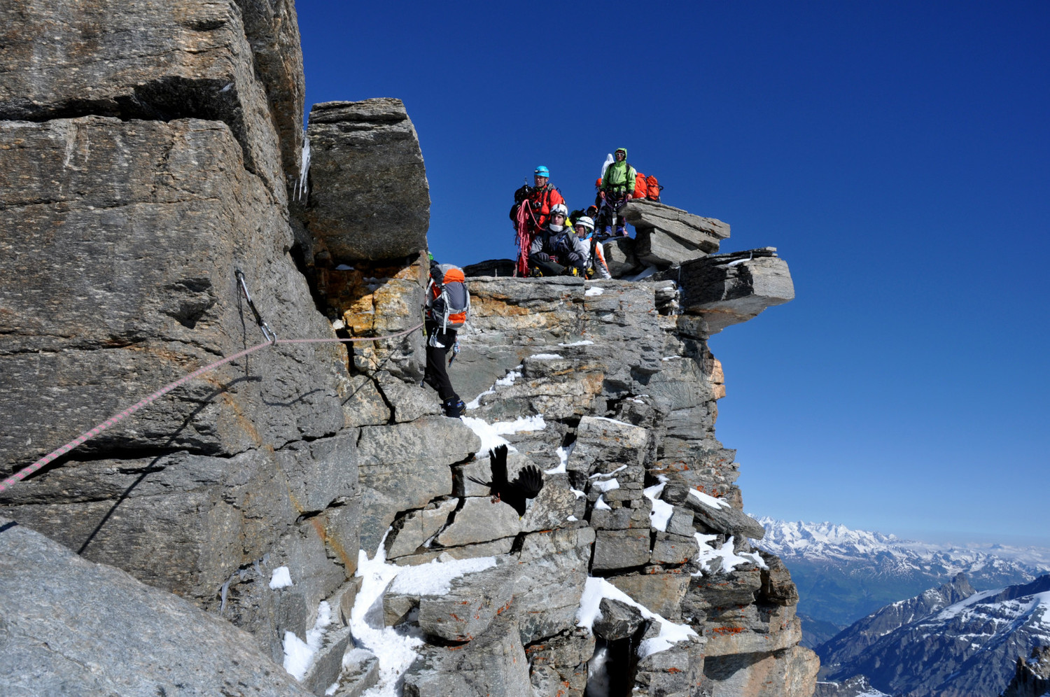 Gran Paradiso - Via normale : ... the joy of reaching the Paradise (!) keeps most people happy, friendly and polite though !