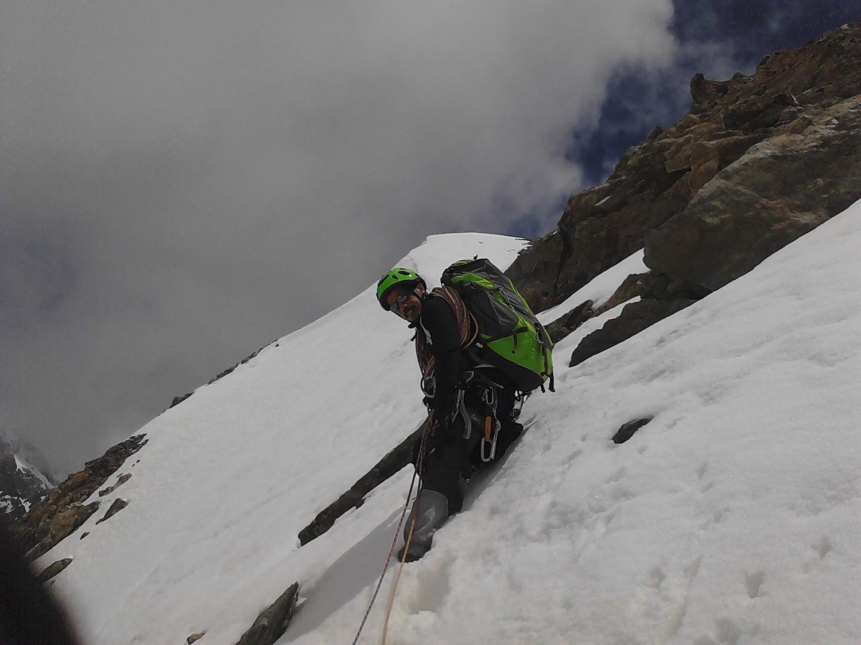 Sur l'arete finale avant le sommet