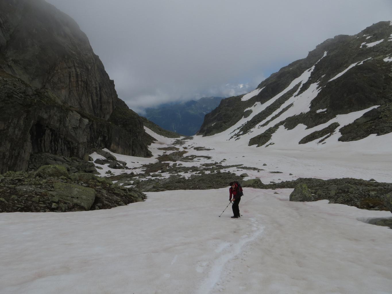 Toujours de la neige dans la Combe d'Orny