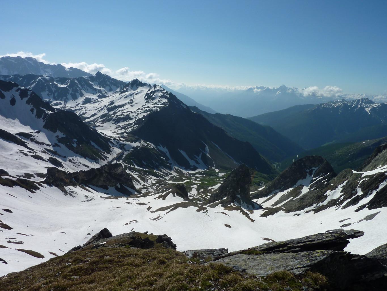 Depuis le point 2823, vue en direction de Montagna Baus