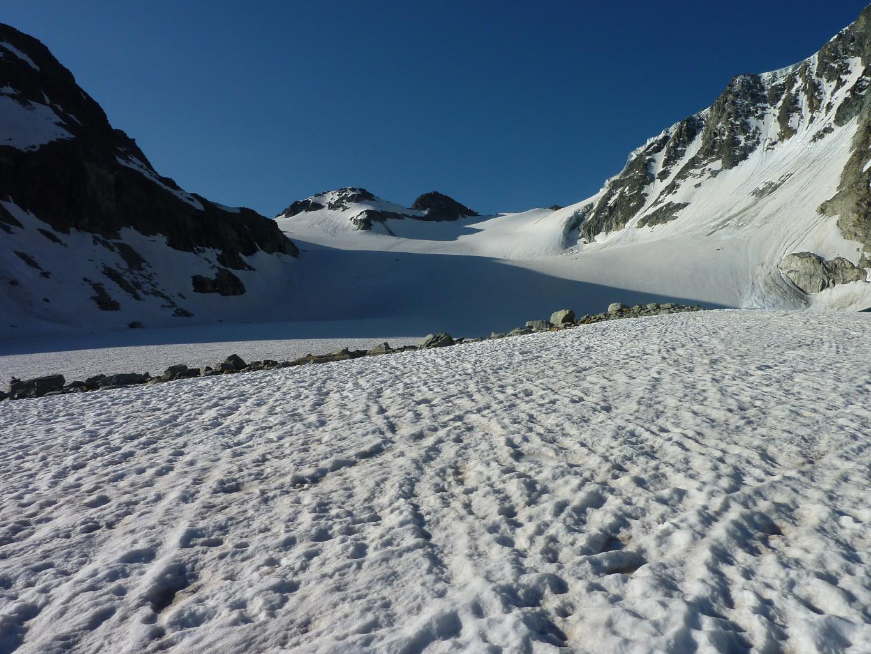 Montée, glacier de Pièce
