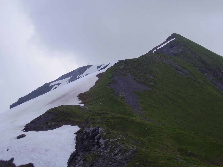 Sommet (photo prise au retour avec la météo qui se dégrade)