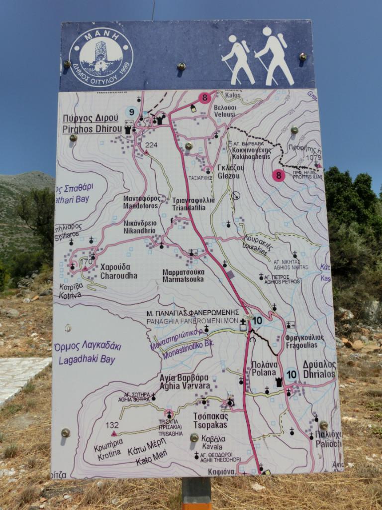 Profitis Ilias - celui de Pyrgos Dirou, sentier n°8