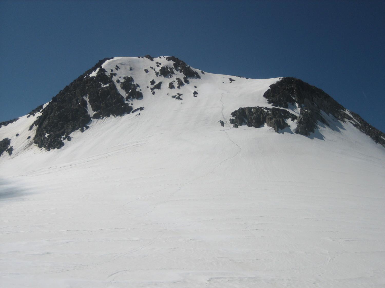 Dôme de Polset, versant N : pente finale