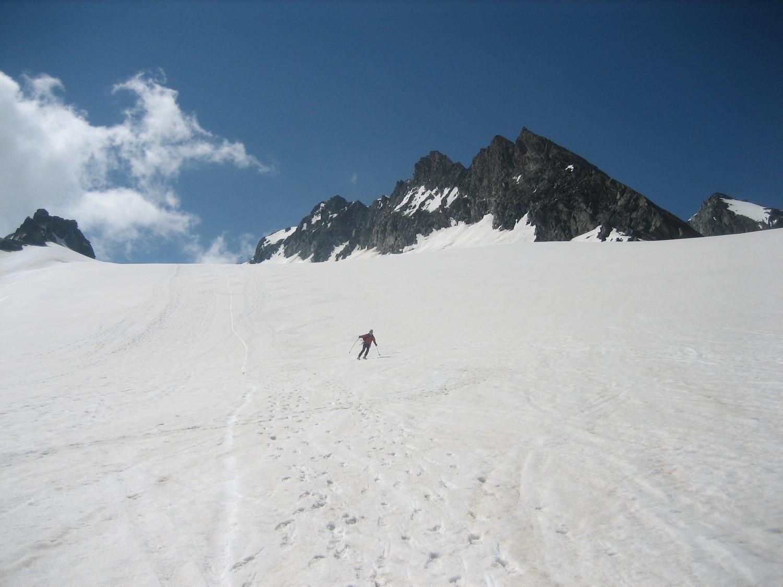 Descente du Glacier de Gébroulaz