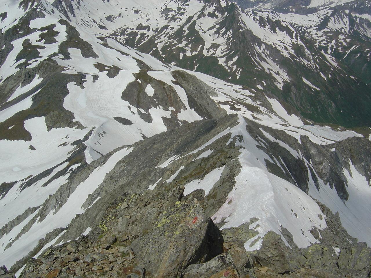 L'arête W vue du sommet