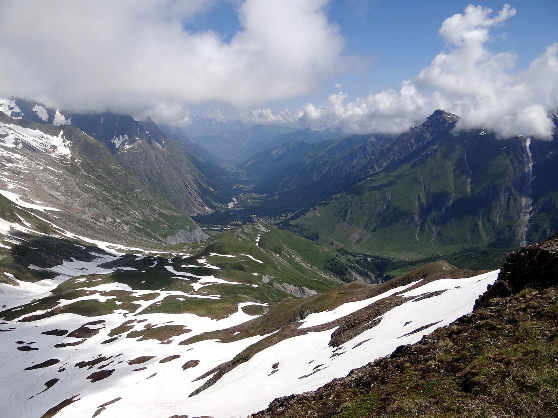 Depuis le Grand col Ferret,  le versant suisse