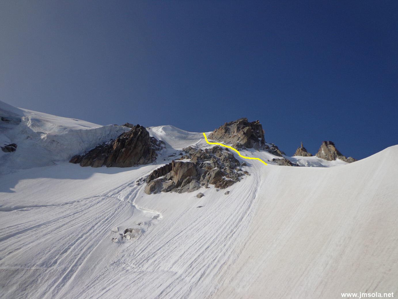 La sortie glacière de l'éperon