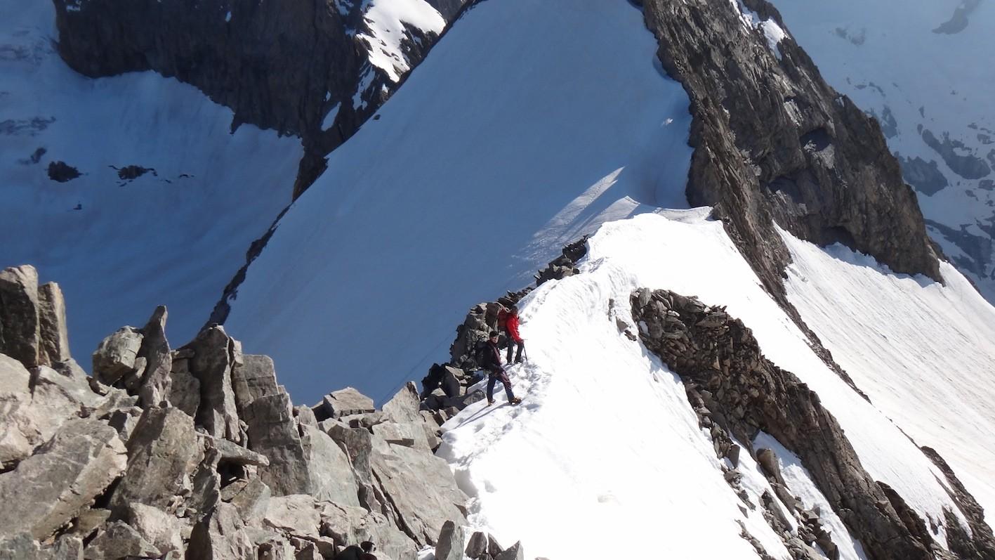 Tête sud du Replat 3428m descente
