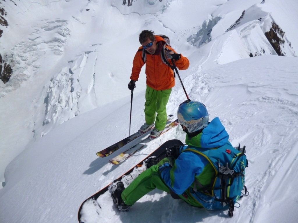 Au départ du sommet.
