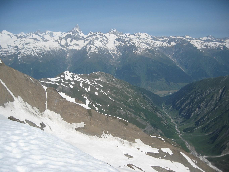 vista verso Vallese e Oberland Bernese