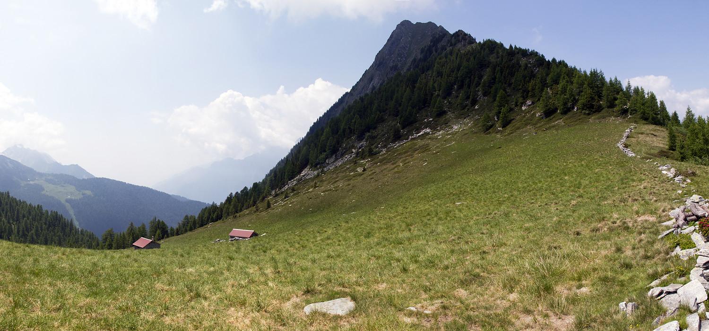 Piz de Campel: la vetta vista dal Passo di Campel Alt.