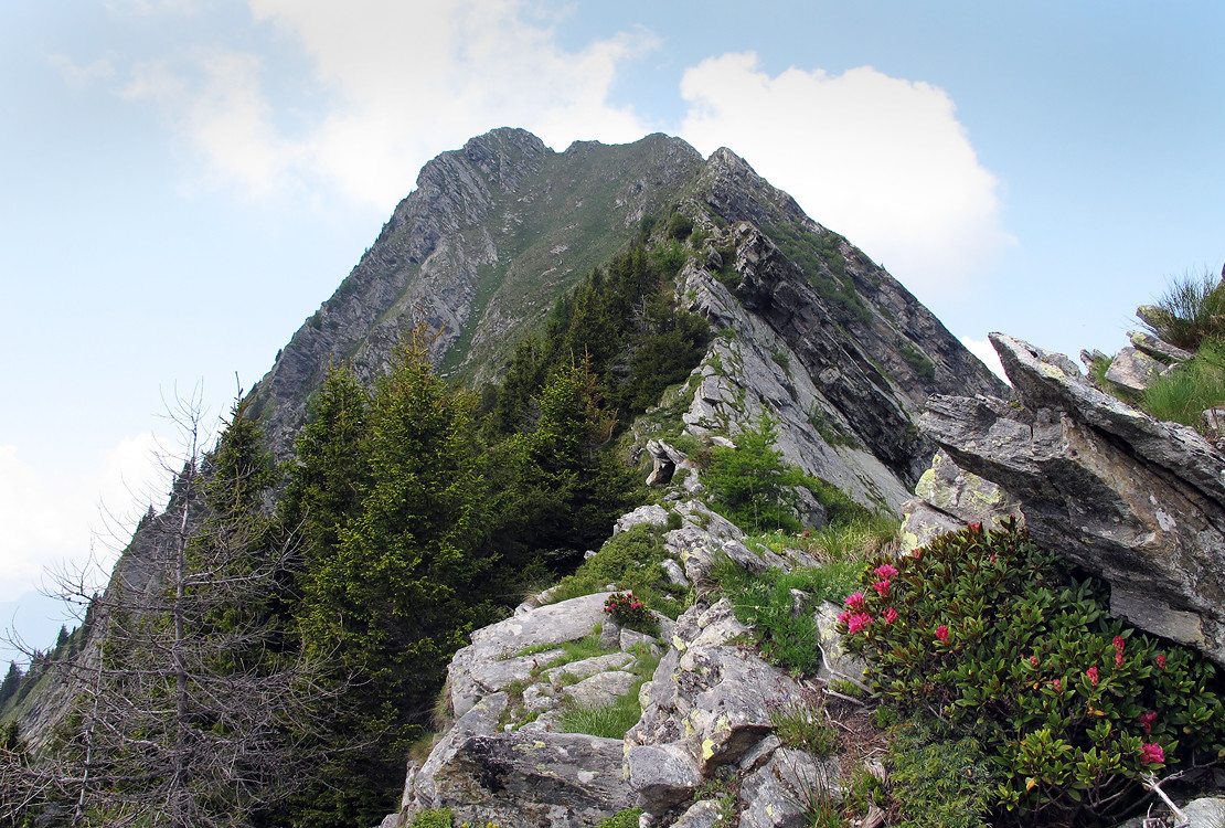 Piz de Campel: particolare della cresta Est.